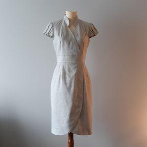 Antonio Melani Linen Blend Cap Sleeve Dress